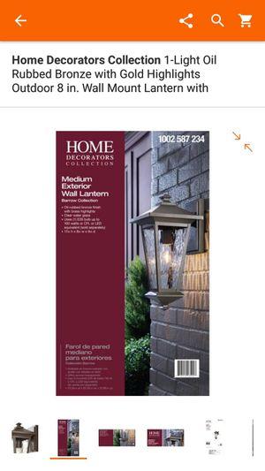 Home Decor Collection medium exterior wall lantern for Sale in Las Vegas, NV