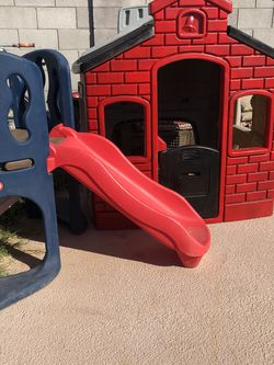 Little Tikes Playhouse With Little Tikes Slide Playground for Sale in Glendale,  AZ