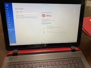 Hp laptop computer with Microsoft office full windows ssd virtual dj for Sale in Whittier, CA