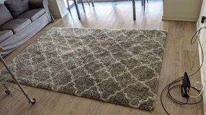 6' by 9' fluffy rug! (Comes with pad) for Sale in Arlington, VA