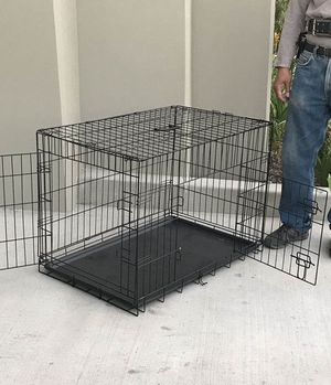 NEW 30x19x21 Inches Tall 2 Doors Pet Cage Dog Kennel Crate Foldable Portable Fold Flat Puppy Small to Medium size for Sale in Covina, CA