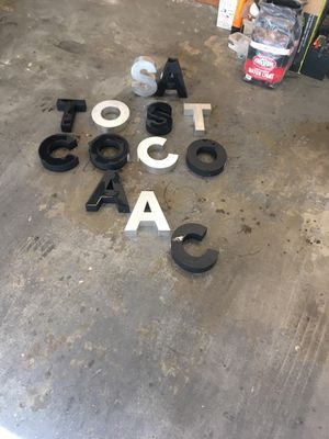 Decorative metallic letters black and silver letters will deliver up to 15 miles if you purchase for all for Sale in Los Angeles, CA