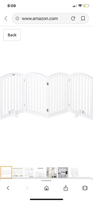 "Bonnlo Wooden Folding Pet Gate Freestanding Barrier for Dogs Cats 4 Panels Doggy Kitty Safety Fence | Fully Assembled | Expands Up to 82"" Wide, 30"" H for Sale in Bakersfield, CA"