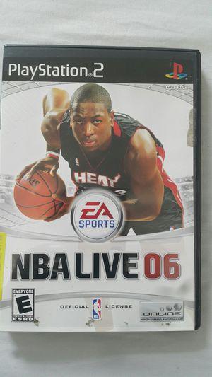 NBA LIVE 2006 FOR PS2 for Sale in Miami Gardens, FL