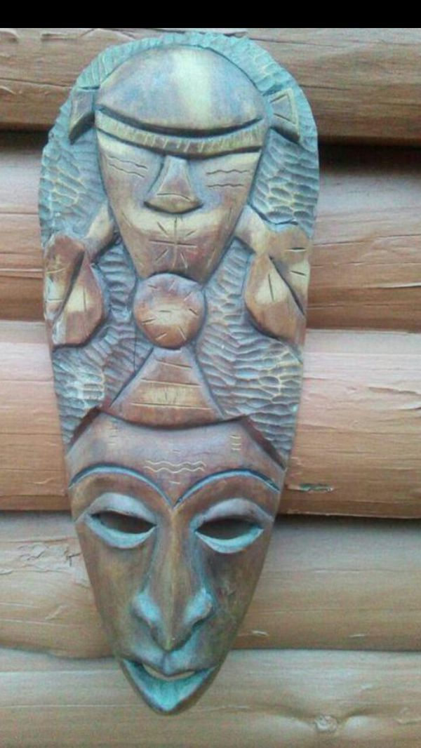 Hand Carved Tiki Mask