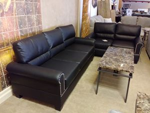 Black Nailhead Sofa & Loveseat for Sale in Phoenix, AZ