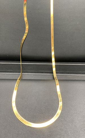 "10k real solid gold herringbone chain 22"" 4mm for Sale in Aurora, CO"