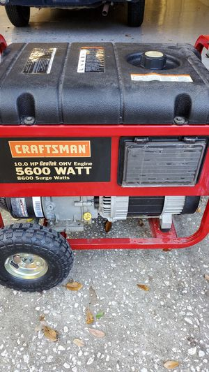 Craftsman 5600 generator for Sale in Lutz, FL