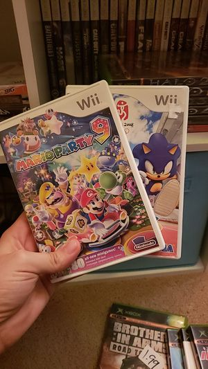 Mario party 9 and Mario and sonic at the Olympics for Sale in Philadelphia, PA