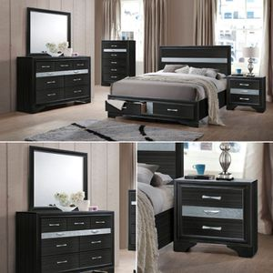4-Pcs Queen size bedroom set. PRESIDENT'S DAY OFFER. $53 DOWN PAYMENT for Sale in Orlando, FL