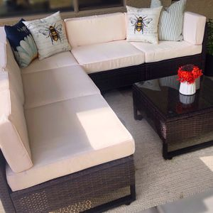 New!! Patio set, Patio Conversation Set, Patio Sectional Set, Outdoor Furniture , 6;pc Coffee Table Set for Sale in Phoenix, AZ