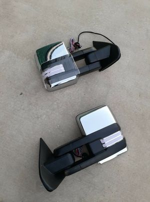 Free Delivery Chevy Silverado Gmc Sierra 2014 to 2018 Tow Mirrors for Sale in Fresno, CA