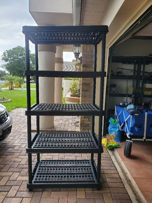Black plastic shelves for Sale in Kissimmee, FL