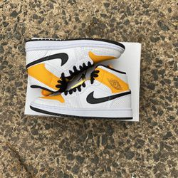 Women's Jordan 1 Mid Perforated Yellow for Sale in Annandale,  VA