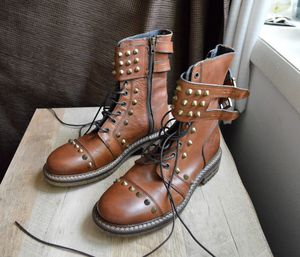 Frankie Morello (Italy) Men's Combat Boots, size 40 (US 10) for Sale in Bethesda, MD