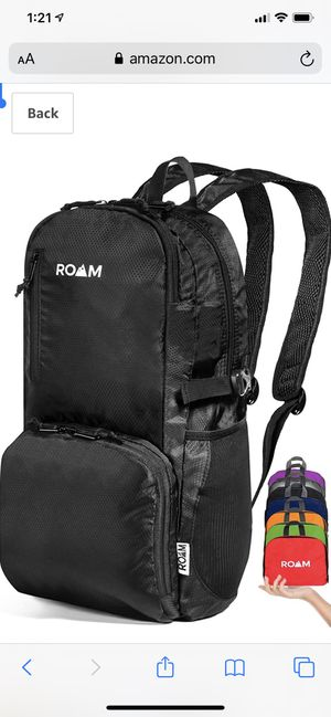 Lightweight Packable Backpack Small Water Resistant Travel Hiking Daypack for Sale in Irving, TX