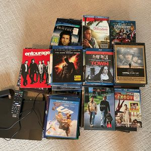 DVD Collection With Sony Blu-Ray DVD Player for Sale in Glendora, CA