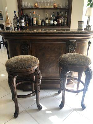 Wood and Granite bar for Sale in Boca Raton, FL