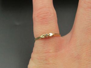 Size 6.25 10K Gold Small Genuine Diamond Band Ring Vintage Estate Wedding Engagement Anniversary Gift Idea Beautiful Elegant Unique Cute for Sale in Everett, WA