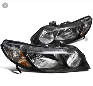 2006-2011 Honda Civic 4door Headlights black housing Brand new for Sale in Forney, TX