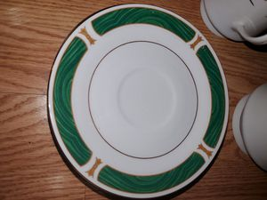 Antique Fine China Dinnerware set w/ gold trim and malachite inlay for Sale in Fort Lauderdale, FL