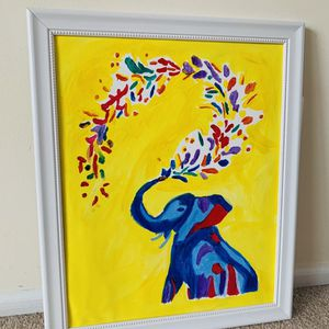 Abstract Elephant Canvas Painting & Framed for Sale in Alexandria, VA