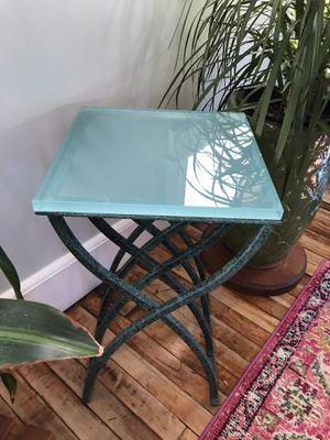 Iron/glass table for Sale in Langhorne, PA