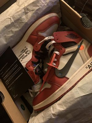 Off white Jordan 1 Chicago's size 9.5 read info. for Sale in Woonsocket, RI