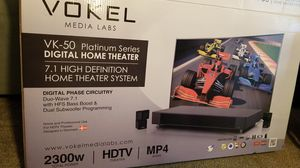 Vokel digital home theater system, 2300 watt,with amp for Sale in Raleigh, NC