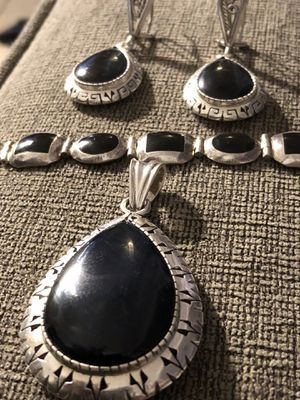 925 Mexican Silver/Onyx Jewerly set for Sale in Miami, FL
