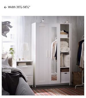 White ikea cabinet armoire barely used for Sale in Miami, FL