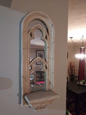 "48"" Shelf candle holder mirror plant for Sale in Gaithersburg, MD"