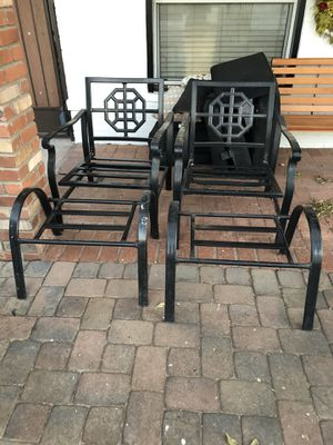 Metal patio chairs and ottomans for Sale in Phoenix, AZ