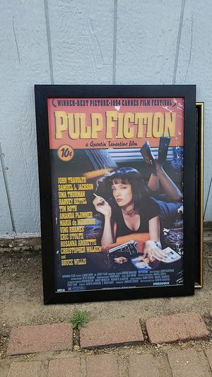 Pulp Fiction Framed poster for Sale in Exeter, CA
