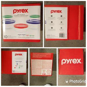 Pyrex 10 Glass Storage Set for Sale in Marietta, GA
