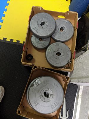 Weight set with 2 dumbbells bars for Sale in Town and Country, MO
