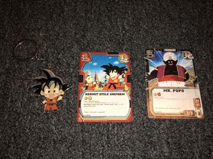Anime Dragon Ball Z Goku keychain and cards for Sale in Bloomington, CA