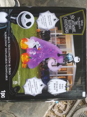 9 ft inflatable nightmare before Christmas Halloween decoration for Sale in McClellan Park, CA
