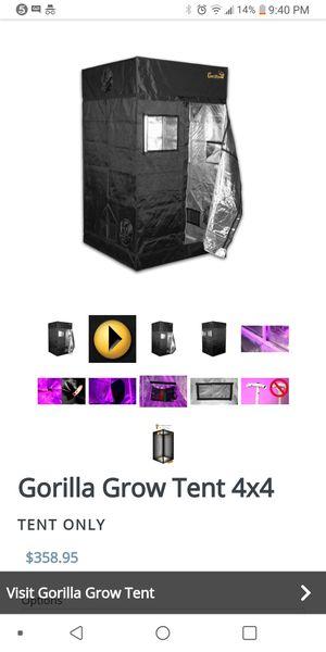 Gorilla. Grow tent 4×4 for Sale in Grand Prairie, TX