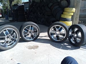 20 Inch Rims Chrome and Black Universal for Sale in Dallas, TX