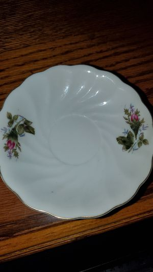 Antique china saucer set floral print set up 6 for Sale in San Diego, CA