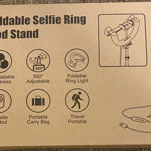 "12"" Foldable Selfie Ring Light with Tripod Stand & Phone Holder for Sale in Alameda, CA"