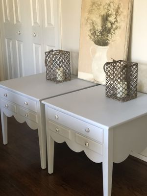 2 night stands/end tables in linen gray for Sale in Centreville, VA