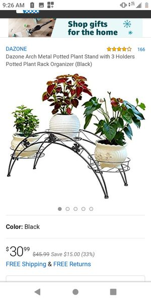 Arch Metal Plant Stand (Make me an offer) for Sale in La Puente, CA