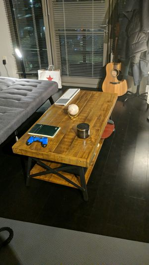 Industrial solid wood and steel coffee table for Sale in Seattle, WA