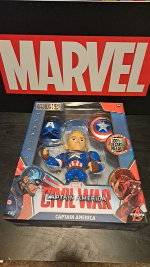 Marvel Metals die cast Civil War Captain America for Sale in Vancouver, WA