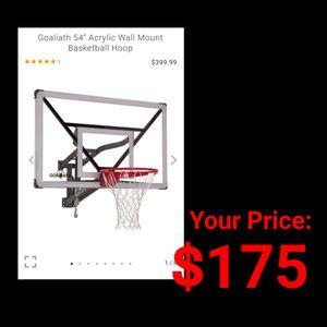 """NEW Goliath 54"""" Wall Mount Basketball Backboard & Hoop for Sale in Burlington, NJ"""