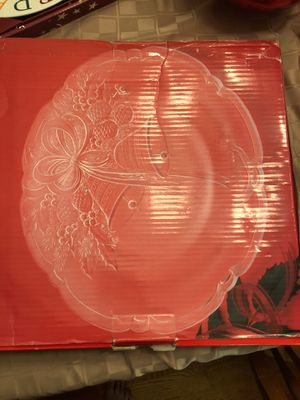 Crystal holiday platter for Sale in Dubuque, IA