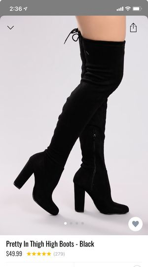 Thigh high black boots for Sale in Miami, FL