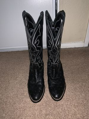 Larry Mahan full quill ostrich western cowboy boots sz 7XE wide in excellent condition for Sale in Norco, CA